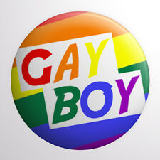 Gay Boy Button Badge 1 inch / 25mm Gay Pride LGBT