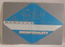 Paula Abdul - Original Concert Tour Cloth Backstage Pass *Last One*