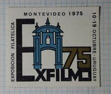 Exfilmo Exposcion Filatelica Uruguay 1975 Philatelic Souvenir Ad Label