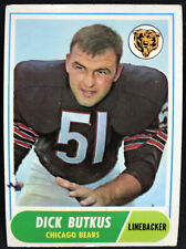 1968 Topps #127 Dick Butkus Bears VG+ No Creases