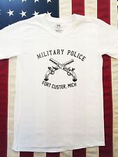 WWII US Army Military Police Fort Custer PT Repro T Shirt Spec Tag Mens size XXL