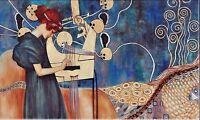 "GUSTAV KLIMT Oil Painting on Canvas Classic art Wall decor Music 24x40"""