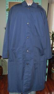 "Dickson Frock Coat Navy Butcher Medical Work Wear Uniform 45"" long Sz L to 4X"