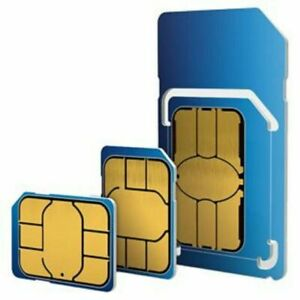 £10 Credit Preloaded O2 Pay As You Go CLASSIC Triple Cut Sim Card