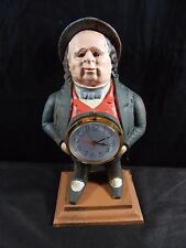 John Bull Bradley & Hubley Repro Non- Moving Eye Clock Cast Iron With Kinlis