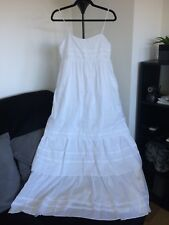 diane von furstenberg white maxi summer dress size M, AU 8 Wedding