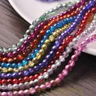 New 200pcs 4mm Round Glass Loose Spacer Beads Jewelry Making Mixed Color