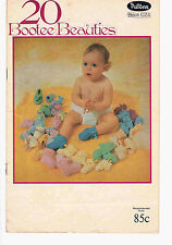 PATONS VINTAGE 20  BOOTEE BEAUTIES BOOK-C24-IN FAIR PRE-LOVED CONDITION
