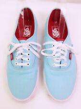 VANS Teal Blue Canvas Skate Shoe Style TB4R US Women's Sz 12  Mens Sz 10.5 VGUC