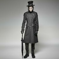 Punk Rave Men's Gothic Steampunk Victorian Vampire Military Long Jacket Coat