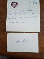"""William"""" Bil"""" Giles Baseball Autograph With Letter  Alex Stern Collection"""
