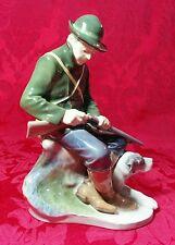 """Royal Copenhagen Denmark Hunter with Dog Figurine 1087 Christian Thomsen 8 1/2"""""""