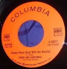 MB1030 Simon & Garfunkel Flowers Never Bend With The Rainfall / I Am A Rock 45