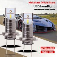 2pcs 110W H7 LED Headlight Scheinwerfer Birnen Leuchte Lamp Canbus IP68 Weiß Car