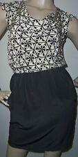"""Cynthia Vincent"" Petite sz P Black 100% Silk Career/Dressy/Church Dress in EUC"
