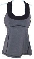 Lululemon Women's Size 6 Tank Top Yoga Athletic Halter Mesh Net Sports Bra Plum