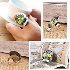 Sugar Skull Mood Color Ring Dia De Los Muertos Black Flower Eyes Day Of The Dead