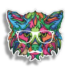 Cat Sticker for Cup Cooler Car Truck Vehicle Laptop Bumper Decal Pet Wolf Fox