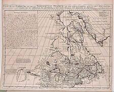 Carte antique, carte du Canada ou de la Nouvelle France