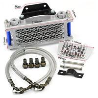 Aluminum Oil Cooler Radiator For 50 70 90 110CC Dirt Pit Bike Racing Motorcycle