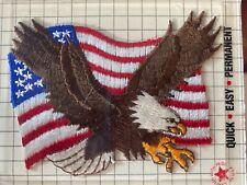 New listing Vintage 1991 Joy Iron-On Embroidered Emblems Patch American Flag Eagle Usa Pride