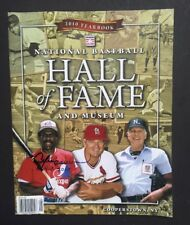 National Baseball Hall of Fame Museum 2010 Yearbook Signed Andre Dawson Hof Coa