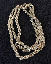 """Sterling Silver ~26 grams Silver Sparkly Twisted Chain 23"""" Necklace #71"""