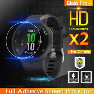 [2 Pack] Glass Pro+ Tempered Glass Screen Protector For Garmin Forerunner 45