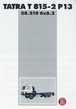 Prospekt Tatra T 815-2 P13 28.210 6x6.2 Technische Daten Datenblatt brochure LKW