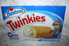 10 x Hostess Twinkies Individually Wrapped Cakes 385g box
