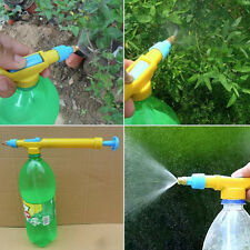 Pop plastic interface juice water mini sprayer gun pressure bottles interface PR