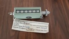 6 Digit Mechanical Counter Vintage Military Part