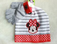 Disney Minnie Mouse Girls Winter Beanie Hat Mittens Gloves Kids Toddler Toy Gift