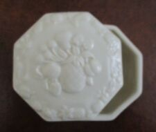 "Lenox ~ ""Fruits of Life"" ~ Covered Keepsake / Trinket Box ~ Mint Condition"