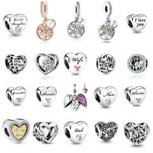Pandora Charms Family Friends Collection Mum Sister Daughter Nan Friendship NEW