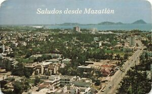Postcard Ephemera Saludos desde Mazatlan Golden Zone Las Gaviotas Mexico MEX MX