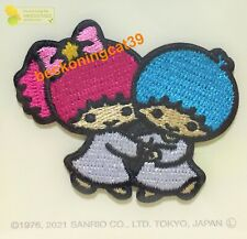 Sanrio Little Twin Stars Embroidered Applique Patch Badge Sew Iron On Kiki JAPAN