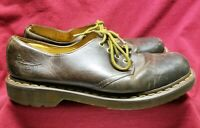 Mens Doc Martens Distressed Brown Leather Shoes Size 10 UK 9
