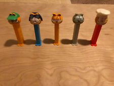 Pez Lot of 5 different Garfield dispenser 1990's