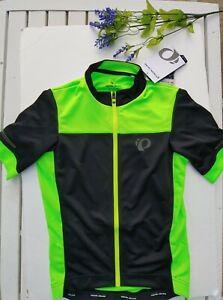 Pearl Izumi NWT Elite Escape Semi-Form Cycling Jersey Black/Screaming Green XS
