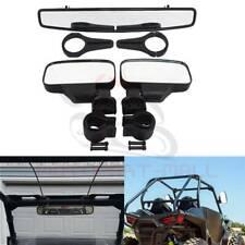 2� Clamp Side & Rear View Mirrors Set For Polaris Rzr 800 Xp1000 900 Yamaha Utv