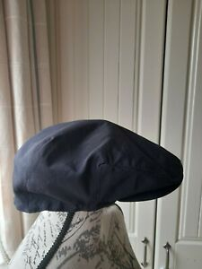 Navy Fleece Lined Flat Cap, Peaky Blinders-Size M/L