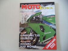 MOTO TECNICA 4/1997 CAGIVA FRECCIA 125 GREEN TUNING/SUZUKI DR 650 SE/KIT YRRD