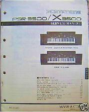 Yamaha PSR3500 X3500 Portatone Keyboards Original Service Manual, More
