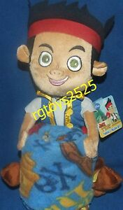 """Disney Jake and the Neverland Pirates Throw Blanket with 18"""" jake Plush doll NEW"""