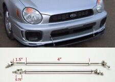 "Silver 4"" Adjustable Rod Bar Support for splitter Bumper Lip Diffuser Spoiler"