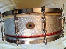 LUDWIG FACTORY EBONIZED SNARE VINTAGE SINGLE PLY MAPLE 10 lug PRO. STRAINER WFL