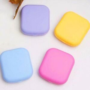 EG_ LT_ FP- Pocket Plastic Contact Lens-Case Kit Outdoor Travel Mirror Container