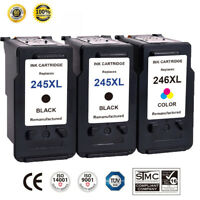 2 Black & 1 Color Ink Cartridge For Canon PG-245XL CL-246XL PIXMA MG2520 MG2920
