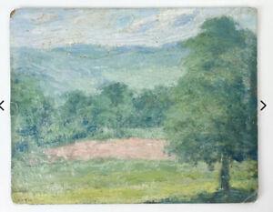Attrib.  William Zabriski Landscape Painting 1926 Norfolk Connecticut